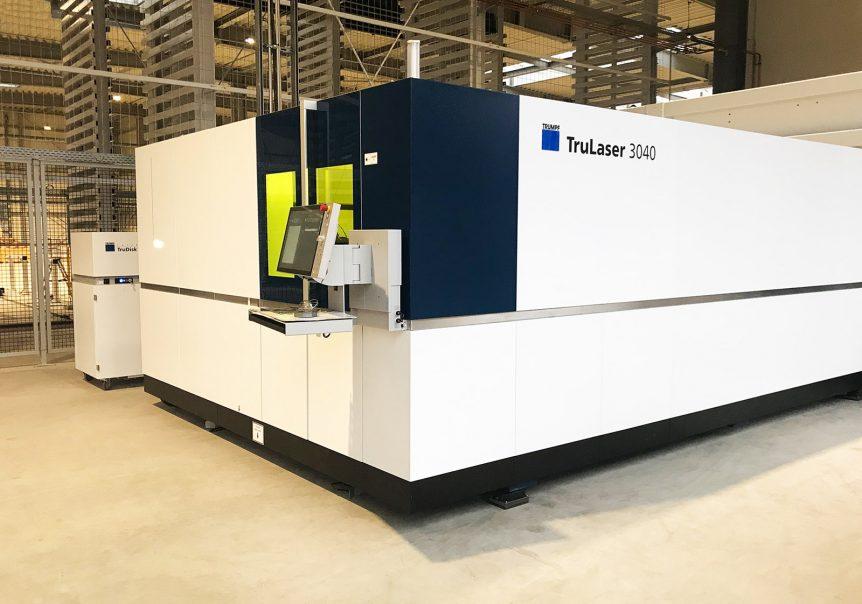 Neue Laserschneidanlage TruLaser 3040 fiber