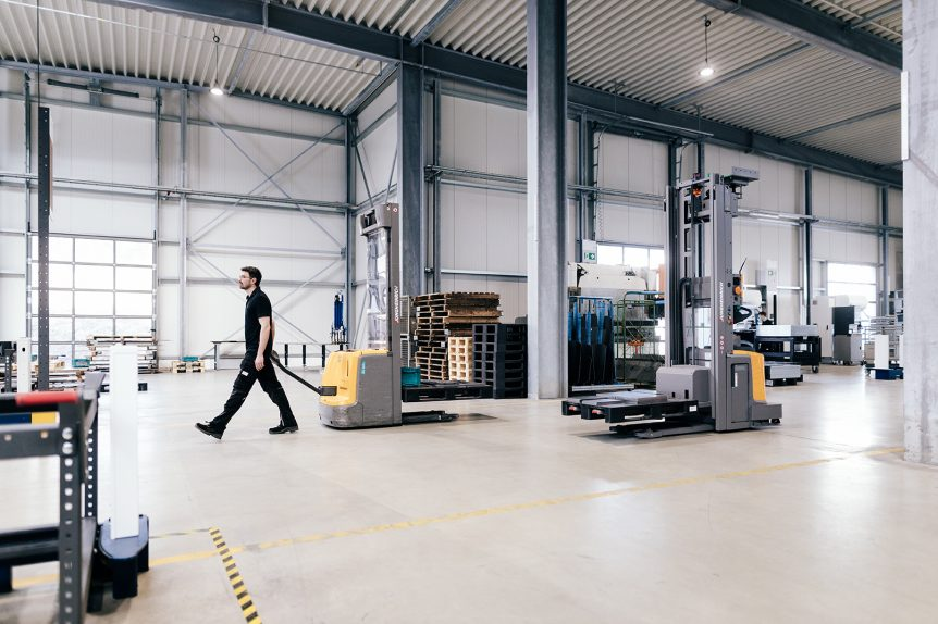 DAX MetallForm, fahrerloses Transportsystem (FTS)